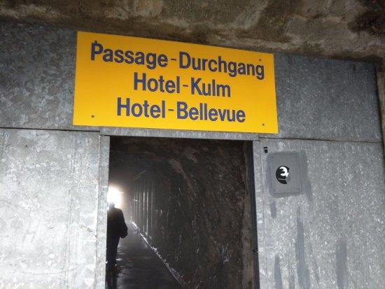 Mount Pilatus: david papkin passage through the tunnel