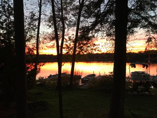 Lakefield, Canada: View from the deck of cottage #5