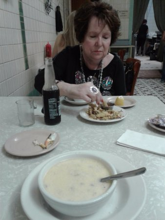 Casamento's Restaurant: best of bowl of oyster stew -- buttery & creamy_ hot & steamy