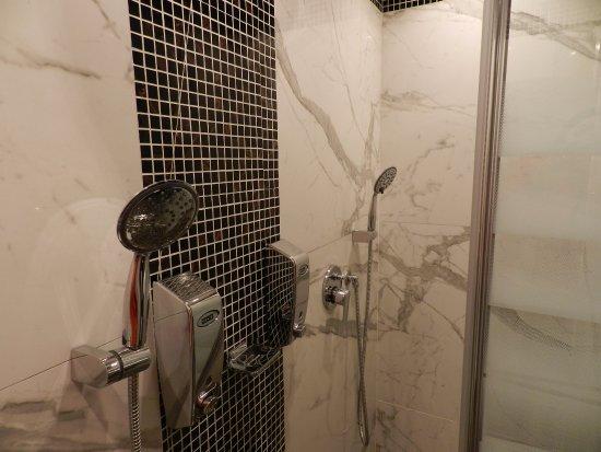 Aurelius Art Gallery Hotel: Double shower!