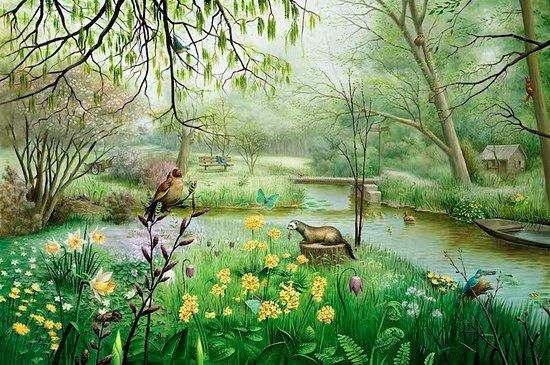 Amstelveen, Países Bajos: Thijssepark in het voorjaar