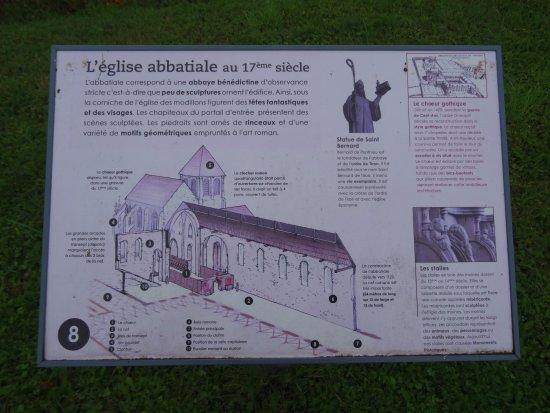 Jardins Thematiques de l'Abbaye : Panneau indicatif