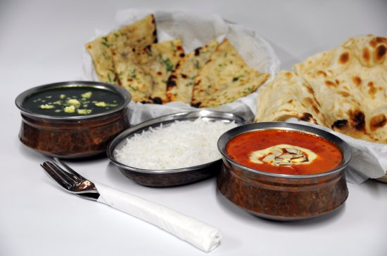 Butter Chicken Palak Paneer Rice And Naan Picture Of Tandoori