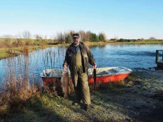 Denny, UK: Tight line days at Wellsfield Trout Fishery.