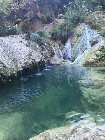 Messenia Region, Griekenland: Polylimnio Waterfall