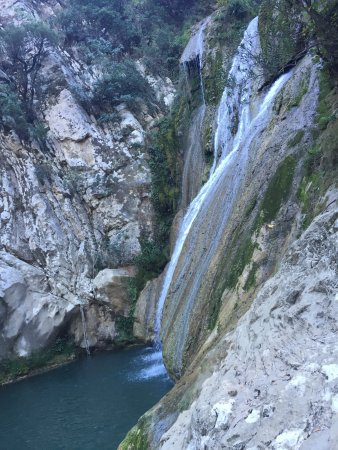 Messenia Region, Greece: Polylimnio Waterfall