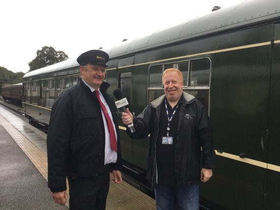 Ecclesbourne Valley Railway: Pete being interviewed on BBC Radio Derby
