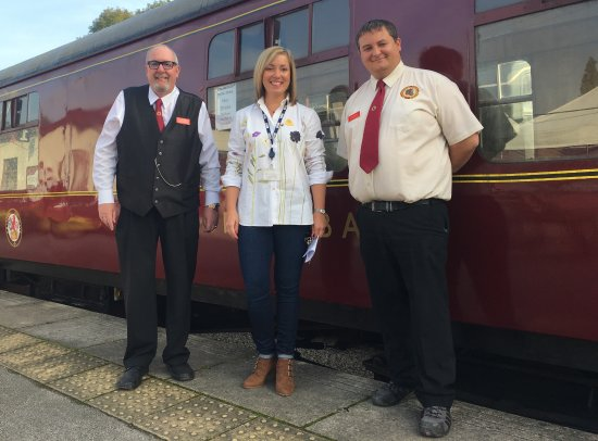 Wirksworth, UK: Tom Tait & Leigh Gration with BBC presenter Sally Pepper