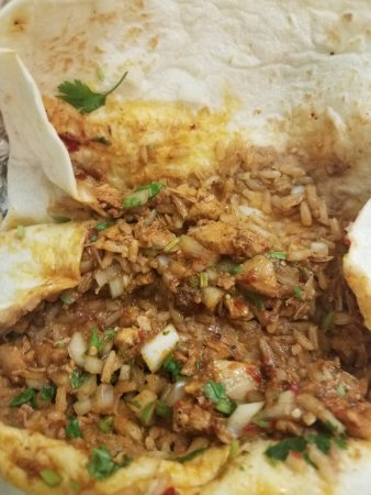 Taqueria Sanchez: Chopped up chicken and fixins make for easy eating and flavor with each bite