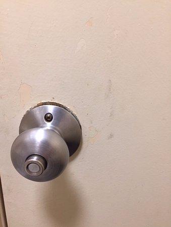 Duncan, Carolina del Sur: Bathroom door handle