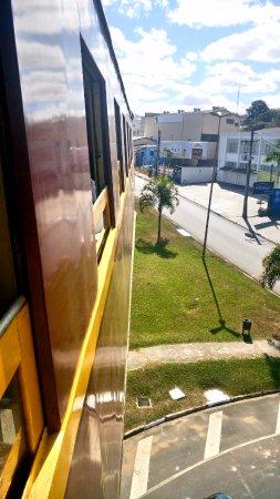 Passeio de Maria Fumaca Campinas - Jaguariuna : Chegando em Jaguariúna