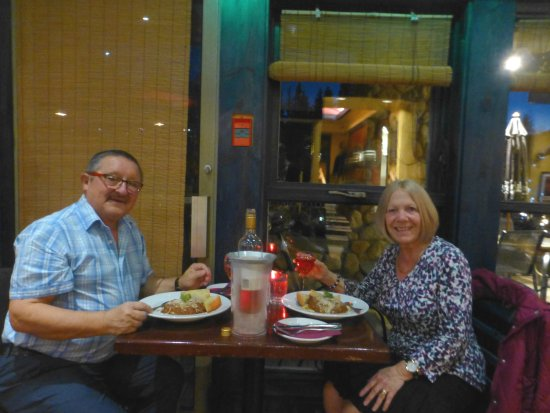 Sun Peaks, Canada: Enjoying our meal