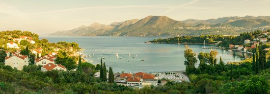 Kolocep Island, Croatia: View of the bay from the hills behind the hotal