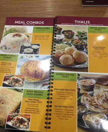 Sagar Ratna: menu