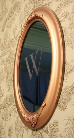 The Wolcott Hotel: Mirror on room wall.