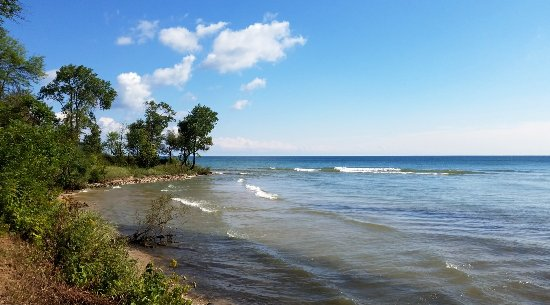 Belgium, WI: The point on Lake Michigan where the loading dock was located when the quarry was active
