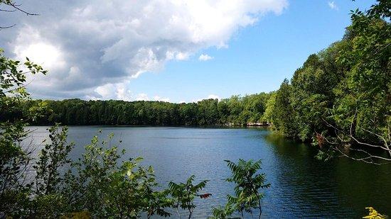 Belgium, WI: Quarry Lake in August