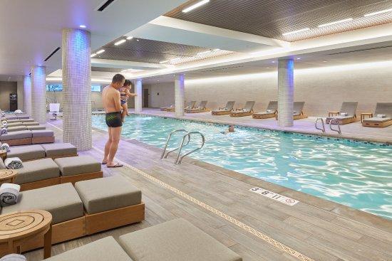 Indoor Saline Pool And Whirlpool Accessible From Hotel Lockerooms Picture Of Hyatt Regency