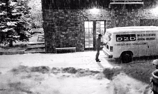 Ketchum, Idaho: Getting ready for deliveries no matter what the weather brings.