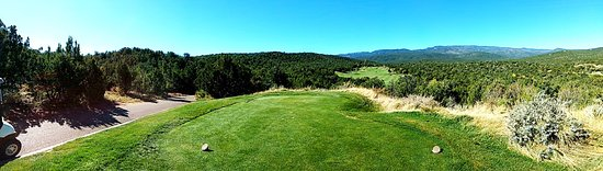 Sandia Park, NM: Panorama from the 12th tee