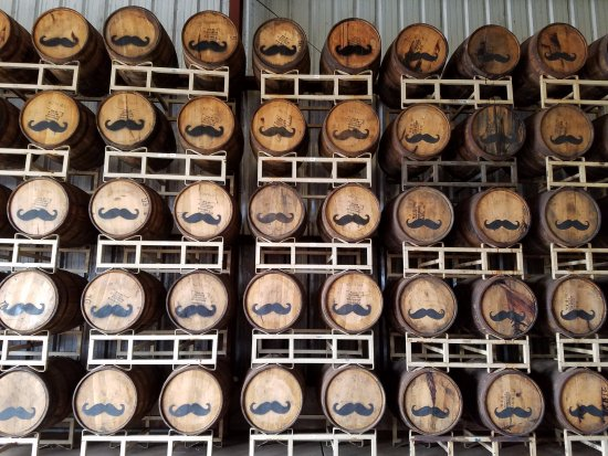Haliimaile Distilling Company: barrels of rum