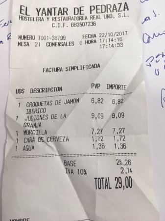 El yantar de pedraza restaurantanmeldelser tripadvisor - El yantar de pedraza ...