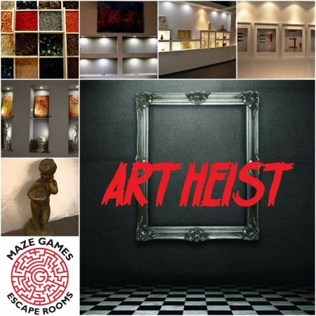 Maze Games: Art Heist, an escape room where players not only are required to escape but also complete a miss