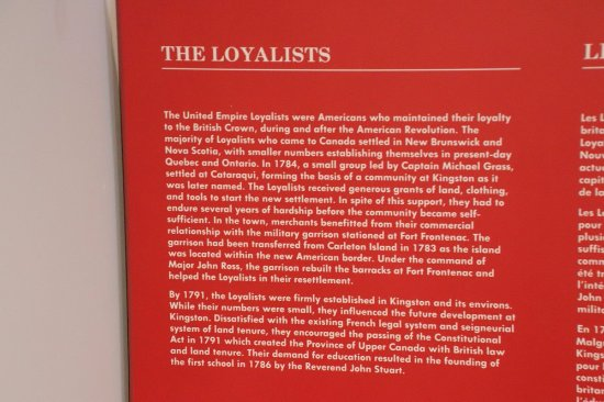 Wolfe Island, Canada: About the Loyalists
