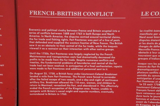 Wolfe Island, Canada: About the French-British Conflict