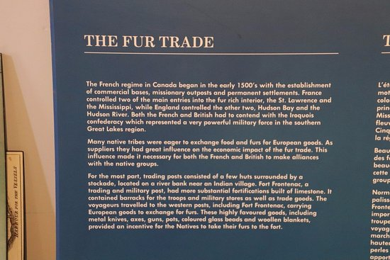 Wolfe Island, Canadá: The fur trade
