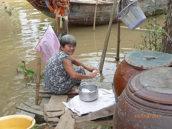 Cai Be Floating Market : povo ribeirinho