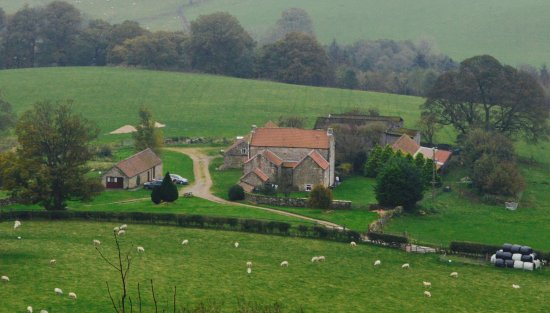 Easterside Farm: Photograph of the farmhouse from Easterside Hill.