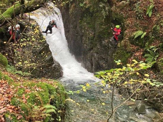 Kendal, UK: Ghyll Scrambling stag do