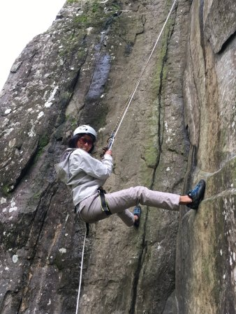 Kendal, UK: Climbing at Tilberthwaite