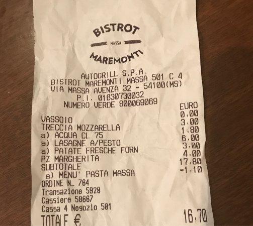 Province of Massa Carrara, Italia: Bistrot MareMonti