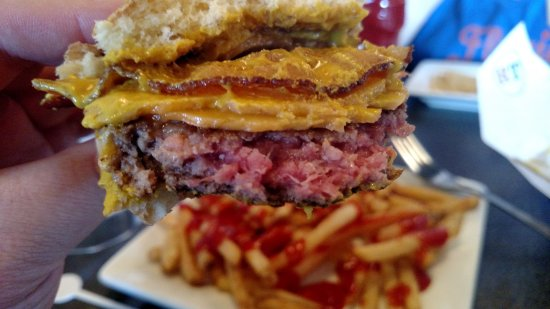 Ruby Tuesday: Raw cheese burger