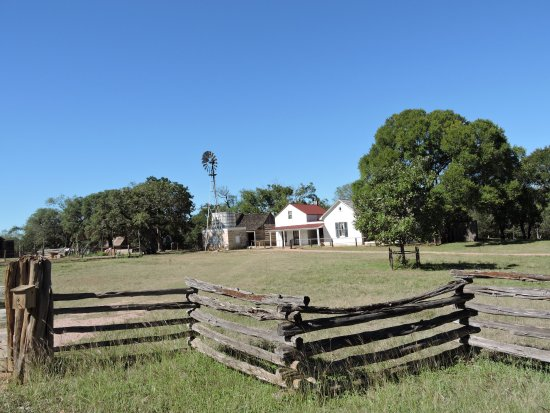 Stonewall, TX: old house, in the park