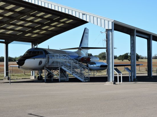 Stonewall, TX: an airforce one plane