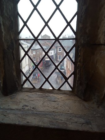 Richard III Experience at Monk Bar: View down the street from the top floor of Monks bar.