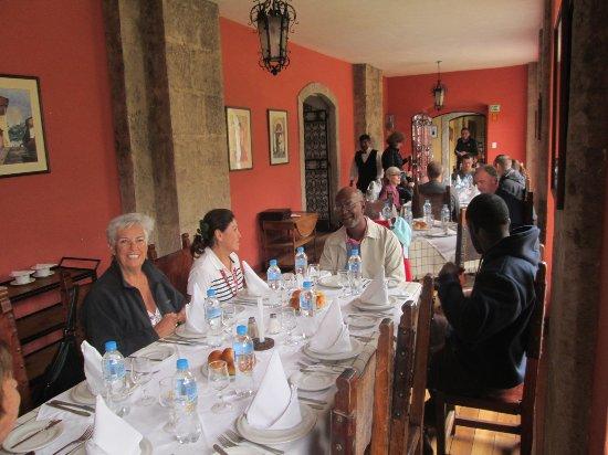 Lasso, Ekvador: our lunch table