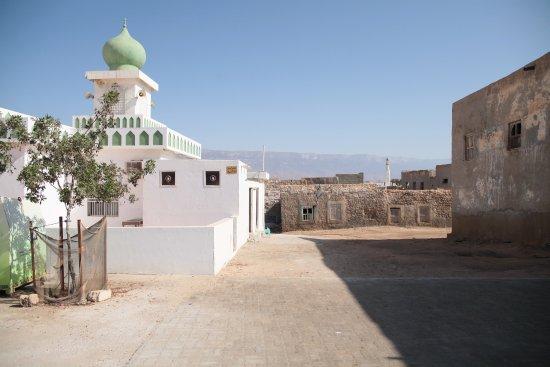 Altstadt Mirbat mit Blick zum Dhofargebirge