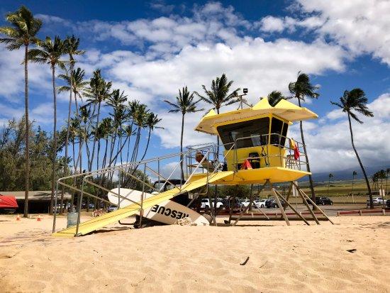 Paia, Χαβάη: Lifeguard station at Baldwin Park, Maui. 10-3-17