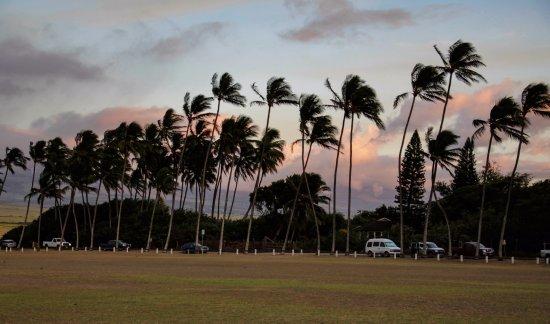 Baldwin Beach Park at sunset, Paia, 10-4-17