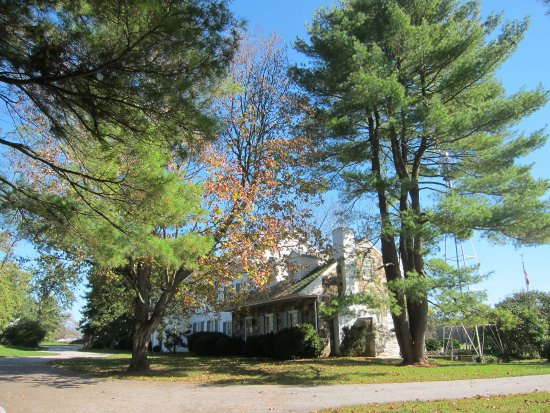Eisenhower National Historic Site: a fall view of the front of the house