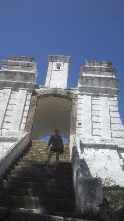 Santa Cruz de Anhatomirim Fortress: escadaria