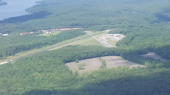 West Milford, NJ: View of the airport next to the Jungle Habitat property