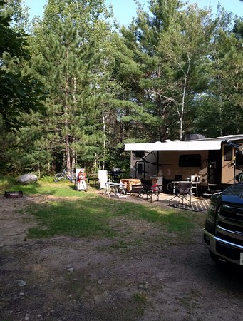 Samuel de Champlain Provincial Park: one of the larger Babawasse campsites