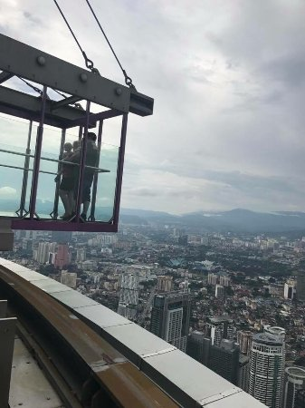 The glass bottom deck picture of menara kuala lumpur for Balcony underside
