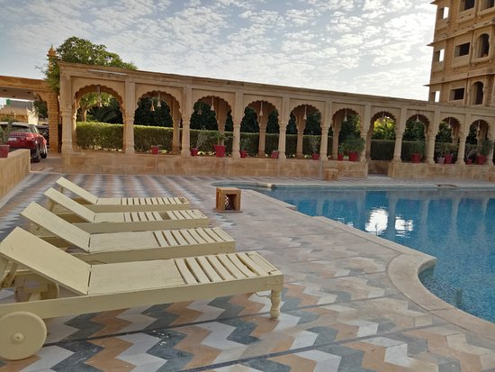 Construction Site Next To Pool Picture Of Mahadev Palace Jaisalmer Tripadvisor