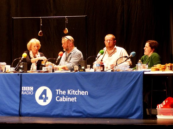 the stage is set before the panel come on for the bbc radio 4